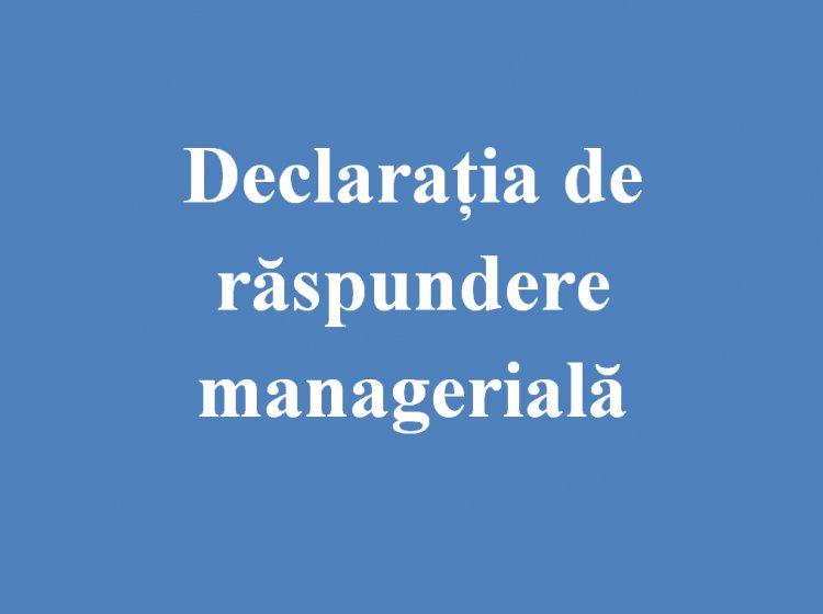 Declarația de răspundere managerială (2020)